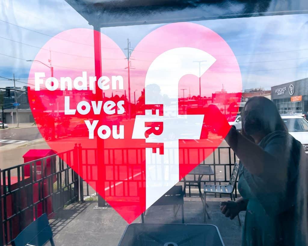 Mississippi - Jackson - Cups Coffee Shop - Fondren Loves You Sign