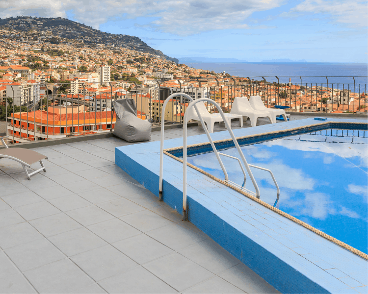Portugal - Madeira - A hotel pool in Madeira