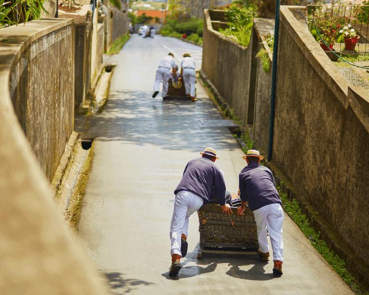 Portugal - Madeira - Carreiros do Monte (Toboggan Ride)