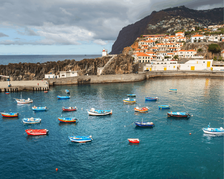 Portugal - Madeira - Coastline and Boats in Funchal