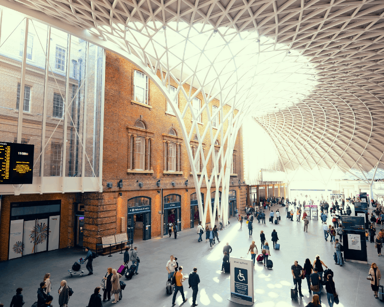 King's Cross Station in London, England