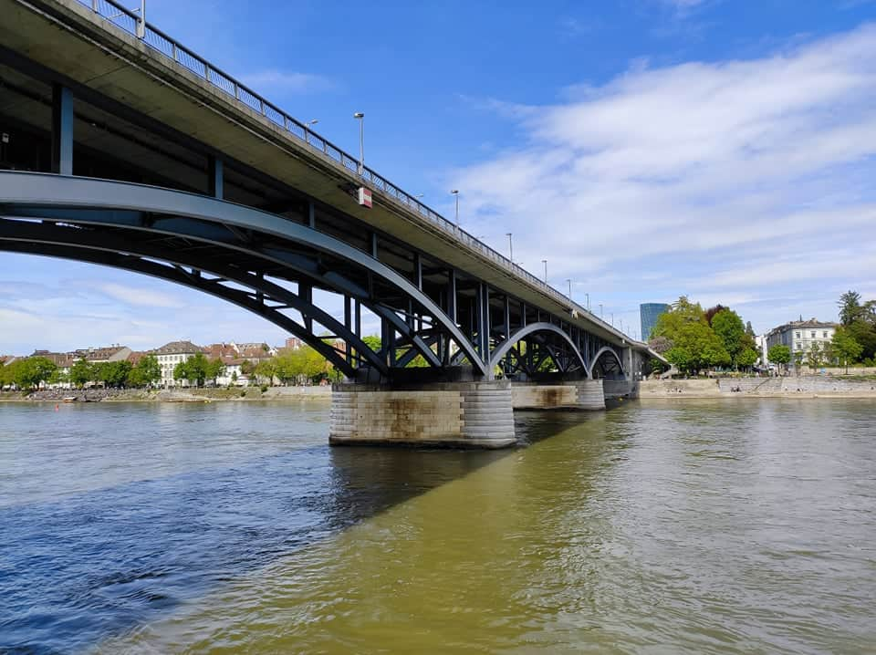 Rhine River connects Global and KleinBasel