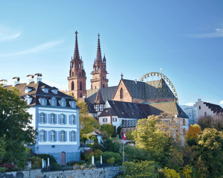 Switzerland - Basel - Old Town Walking Tour for Day 1 of 2 Days in Basel Itinerary