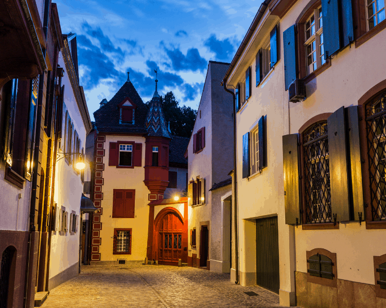 Switzerland - Basel - Old Town at Night