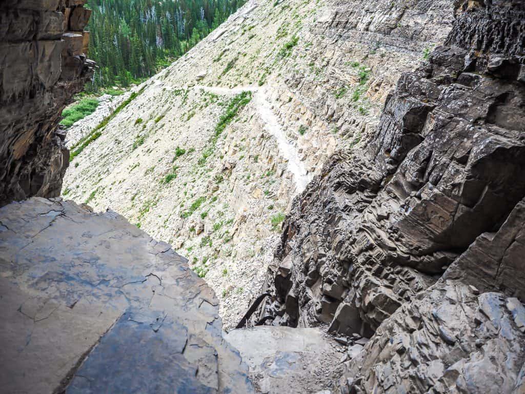 Candada - Alberta - Waterton Lakes National Park - Crypt Lake Trail Tunnel